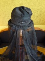 15 antique mourning hat 1910