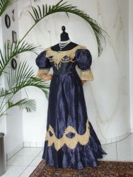 antique dress, antique gown, dress 1895, gown 1895, victorian dress, victorian gown, evening dress, antique dress for sale