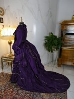 18 antique bustle dress 1874