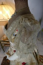 15 antique LEROUX Ball gown 1890