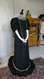 5 antique evening gown 1896
