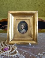 3 antique miniature portrait 1770