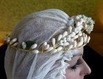 7 antique wax tiara 1920