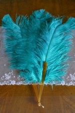 2 antique feather fan 1920