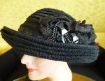 15 antique mourning Hat 1905
