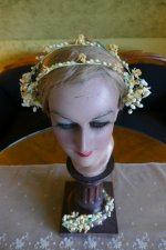 1 antique wax crown 1910