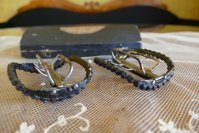 14 antique shoe buckles 1769