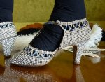 27 antique rhinestone shoes 1920