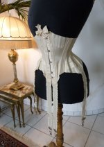 4 antique wedding corset 1885