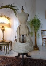2 antique wire hoop skirt