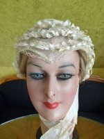 1 antique wedding bonnet 1850