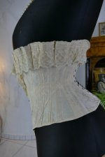 9 antique silk corset 1901