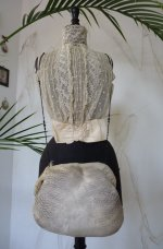 antique muff, antique feather muff, muff 1910, german muff, antique dress, antique gown