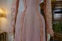 6 antique Rousset Paris society dress 1899