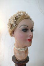 13 antique wax head piece 1920