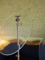 4 antique glass shoe stands 1900