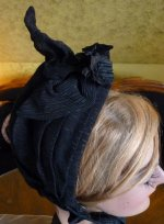 14 antique mourning bonnet