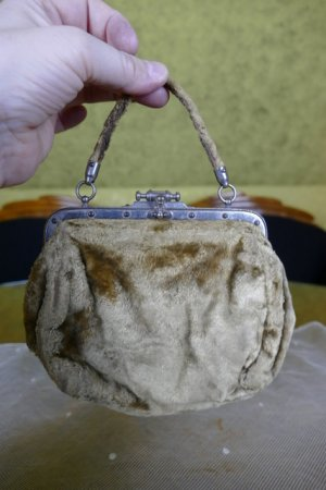 antique plush handbag 1884