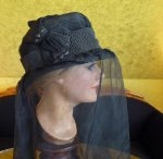 13 antique mourning hat 1910