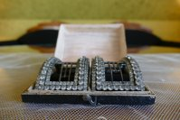 2 antique baroque shoe buckles 1760