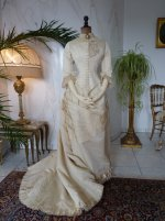 44 antique wedding gown 1874