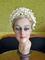 2 antique wax tiara 1912
