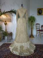 41 antique reception gown 1901
