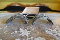 8 antique baroque shoe buckles 1760