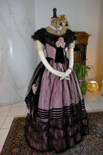 2 antique crinoline ball gown 1855