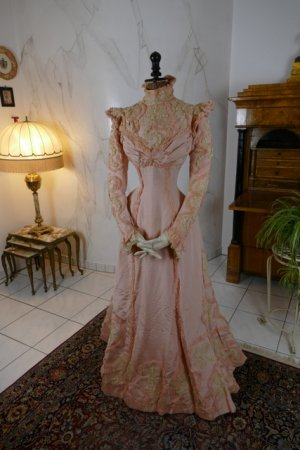 antique Rousset Paris society dress 1899