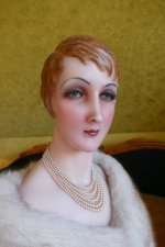 1 antique wax Bust 1920