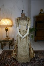 2 antique LEROUX Ball gown 1890
