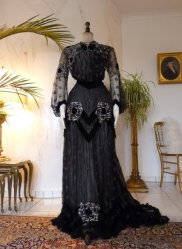 antique evening dress