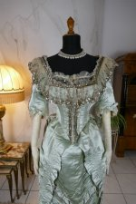 4 antique evening gown 1889