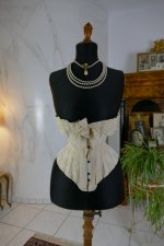2 antique silk corset 1901