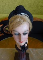 1 antique mourning bonnet