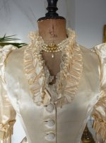 1 antique bustle wedding gown 1879