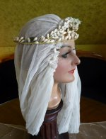 6 antique wax tiara 1920