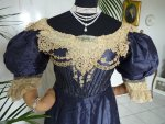 antique dress, antique gown, dress 1895, gown 1895, victorian dress, victorian gown, evening dress, antique dress for sale, dress from Prague