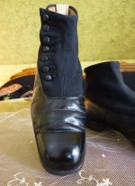 11 antique mens high button shoes