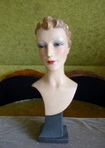 2 antique shop display mannequin 1930