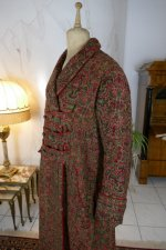 13 antique Mens dressing coat 1865
