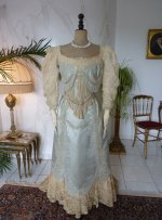 9 antique evening gown Worth 1894