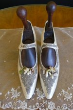 2 antique wedding boots 1906