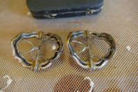8 antique shoe buckles 1770