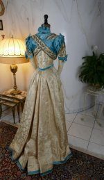 36 antique evening gown 1895
