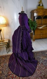 35 antique bustle dress 1874