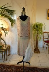 antique flapper dress 1926
