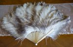 3 antique marabu feather fan 1890