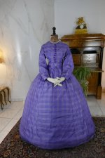 2 antique crinoline dress 1860